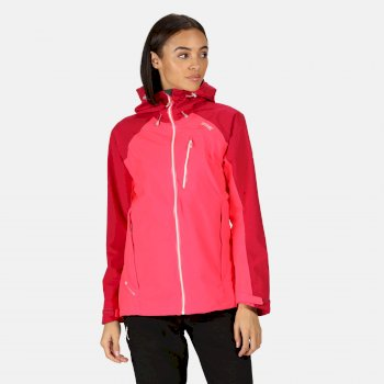 Kimberley Walsh Birchdale Waterproof Hooded Walking Jacket - Neon Pink Dark Cerise