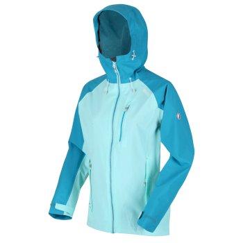 Birchdale wasserdichte Walkingjacke mit Kapuze für Damen Blau