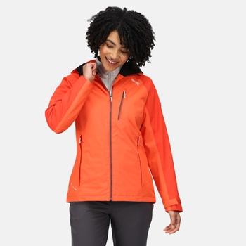 Birchdale wasserdichte Walkingjacke mit Kapuze für Damen Orange