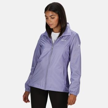 Regatta Women's Corinne IV Lightweight Waterproof Packaway Walking Jacket - Lilac Bloom