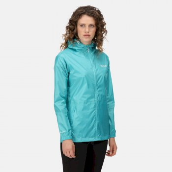 Regatta Women's Pack-It III Lightweight Waterproof Packaway Walking Jacket - Turquoise
