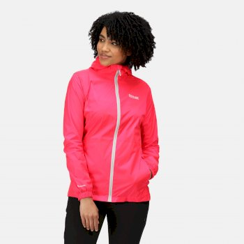 Kimberley Walsh Pack-It III Lightweight Waterproof Packaway Walking Jacket - Neon Pink
