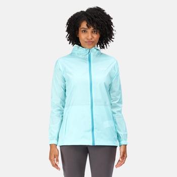 Regatta Women's Pack-It III Lightweight Waterproof Packaway Walking Jacket - Cool Aqua