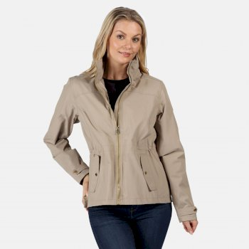 Regatta Women's Laurenza Lightweight Waterproof Jacket Nutmeg Cream