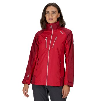 Regatta Women's Calderdale III Lightweight Waterproof Jacket Dark Cerise