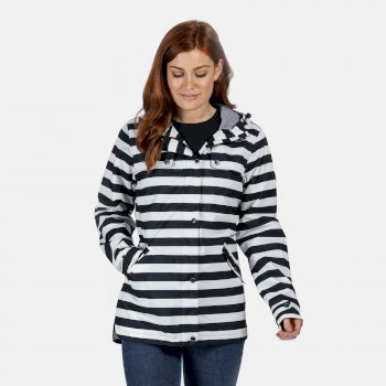 Regatta Women's Bertille Waterproof Jacket - Navy Stripe