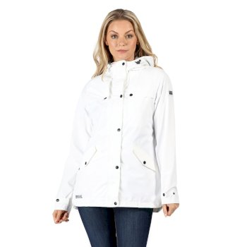 Kimberley Walsh Bertille Lightweight Hooded Waterproof Jacket - White