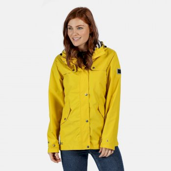Regatta Women's Bertille Lightweight Hooded Waterproof Jacket - Yellow Sulphur