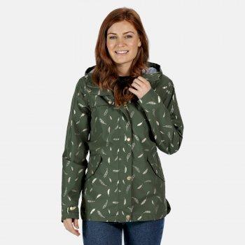 Bertille wasserdichte Jacke für Damen Grün