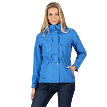 Kimberley Walsh Narelle Lightweight Waterproof Funnel Neck Jacket - Strong Blue