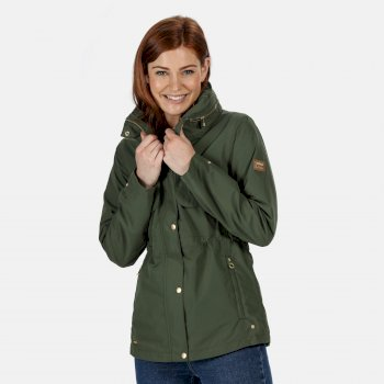 Regatta Women's Narelle Lightweight Waterproof Funnel Neck Jacket - Thyme Leaf