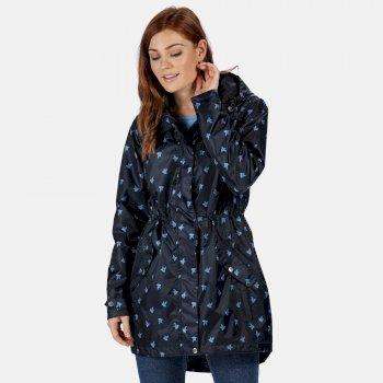 Tanisha leichte bedruckte wasserdichte Jacke für Damen Blau
