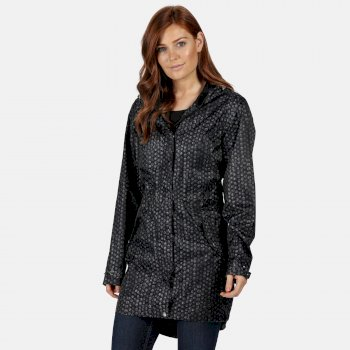 Regatta Women's Tanisha Lightweight Printed Waterproof Jacket - Black