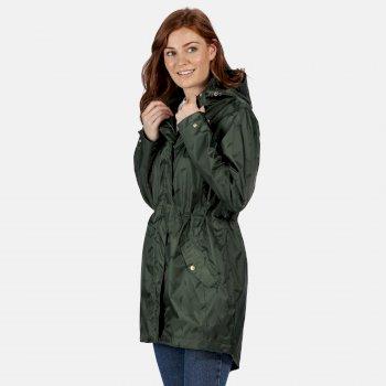 Tanisha leichte bedruckte wasserdichte Jacke für Damen Grün