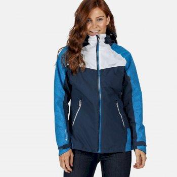 Oklahoma V reflektierende, wasserdichte Jacke für Damen Blau