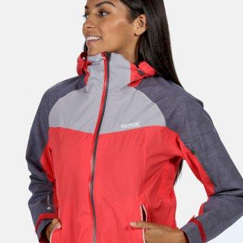 Oklahoma V reflektierende, wasserdichte Jacke für Damen Rot