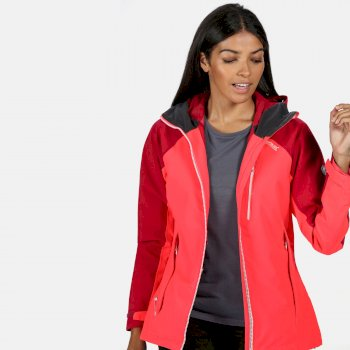 Regatta Women's Highton Stretch Waterproof Jacket - Neon Pink Dark Cerise