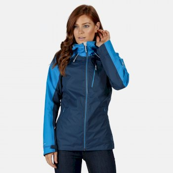 Regatta Women's Highton Stretch Waterproof Jacket - Dark Denim Blue Aster
