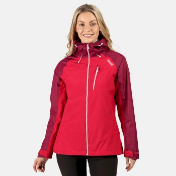 Regatta Women's Highton Stretch Waterproof Hooded Walking Jacket - Dark Cerise Purple Potion
