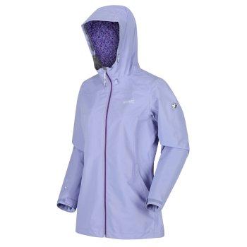 Regatta Women's Hamara III Lightweight Waterproof Hooded Walking Jacket - Lilac Bloom
