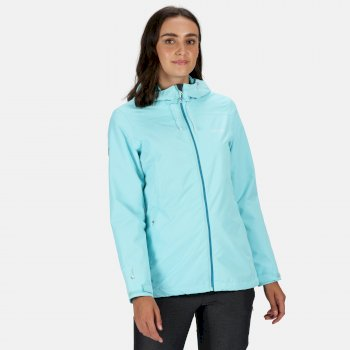 Regatta Women's Hamara III Lightweight Waterproof Hooded Walking Jacket - Cool Aqua