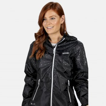 Regatta Women's Leera IV Lightweight Waterproof Jacket - Black