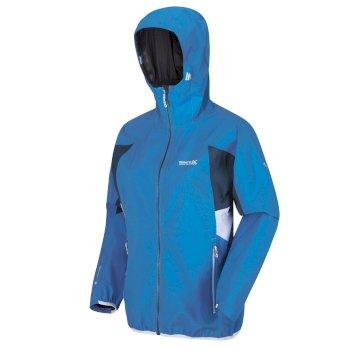Imber IV leichte, wasserdichte Walkingjacke mit Kapuze für Damen Blau