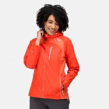 Highton Stretch II wasserdichte Walkingjacke mit Kapuze für Damen Orange