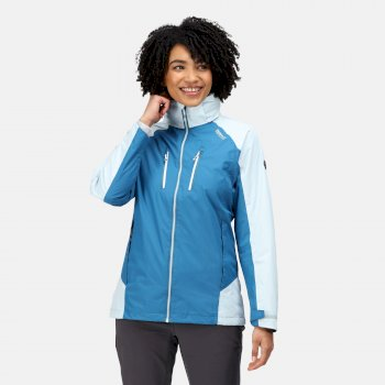 Calderale IV wasserdichte Walkingjacke mit Kapuze für Damen Blau