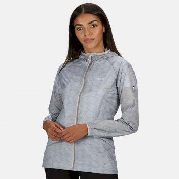Regatta Women's Turla Lightweight Waterproof Hooded Walking Jacket - Light Steel Wave