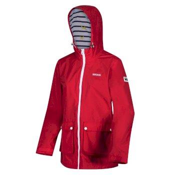 Baysea wasserdichte Jacke mit Kapuze für Damen Rot