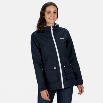 Regatta Women's Baysea Waterproof Hooded Jacket - Navy