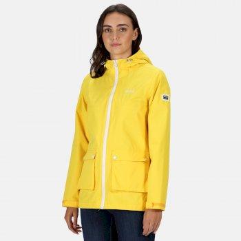 Regatta Women's Baysea Waterproof Hooded Jacket - Yellow Sulphur