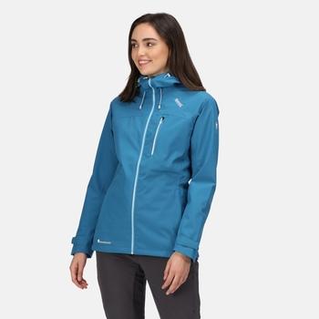 Britedale wasserdichte Wanderjacke mit Kapuze für Damen Blau