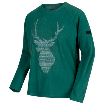 Regatta Men's Cain Crew Neck Christmas Sweater - Bottle Green