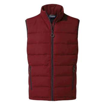Craghoppers Eldrick Downlike Vest - Firth Red / Platinum / Black