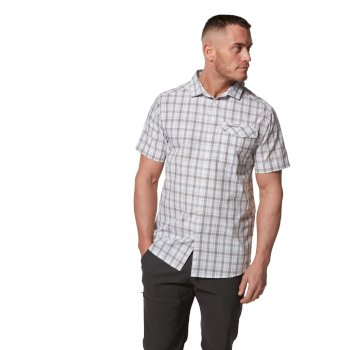 Craghoppers Tierri Short-Sleeved Shirt - Cement Check