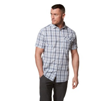 Craghoppers Tierri Short-Sleeved Shirt - Ombre Blue Check