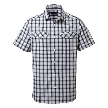 Craghoppers Passos Short-Sleeved Shirt - Blue Navy Check