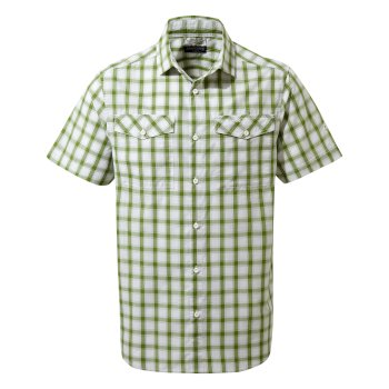 Craghoppers Passos Short-Sleeved Shirt - Agave Green Check