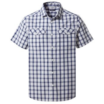 Craghoppers Passos Short-Sleeved Shirt - Lapis Blue Check