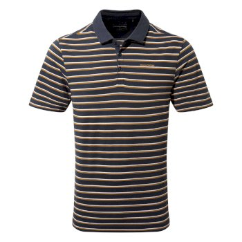 Craghoppers Raul Short-Sleeved Polo - Steel Blue Stripe