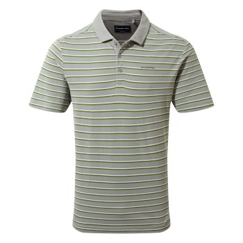 Craghoppers Raul Short-Sleeved Polo - Cloud Grey Stripe