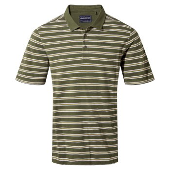 Craghoppers Stanton Short Sleeved Polo - Parka Green Stripe