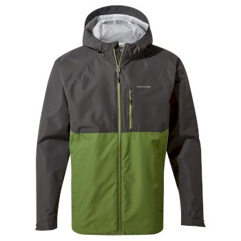 Craghoppers Lucas Jacket - Black Pepper / Agave Green
