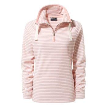 Craghoppers Rhonda HalZip Fleece Blossom Pink Stripe