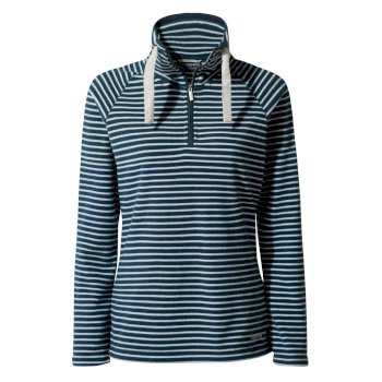 Craghoppers Rhonda Half-Zip Fleece - Loch Blue Stripe