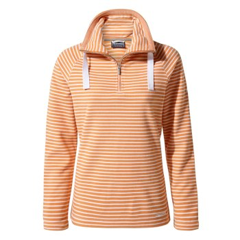 Craghoppers Rhonda Half-Zip Fleece - Soft Apricot Stripe