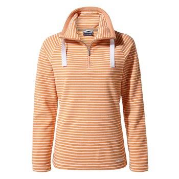 Craghoppers Rhonda Half-Zip Fleece - Soft Apricot Stripe
