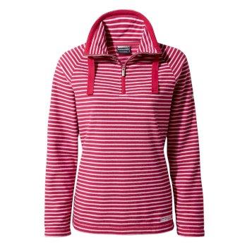 Craghoppers Rhonda Half-Zip Fleece - Vivacious Pink Stripe